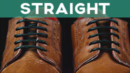 how to tie shoe laces straight lacing on dress shoes