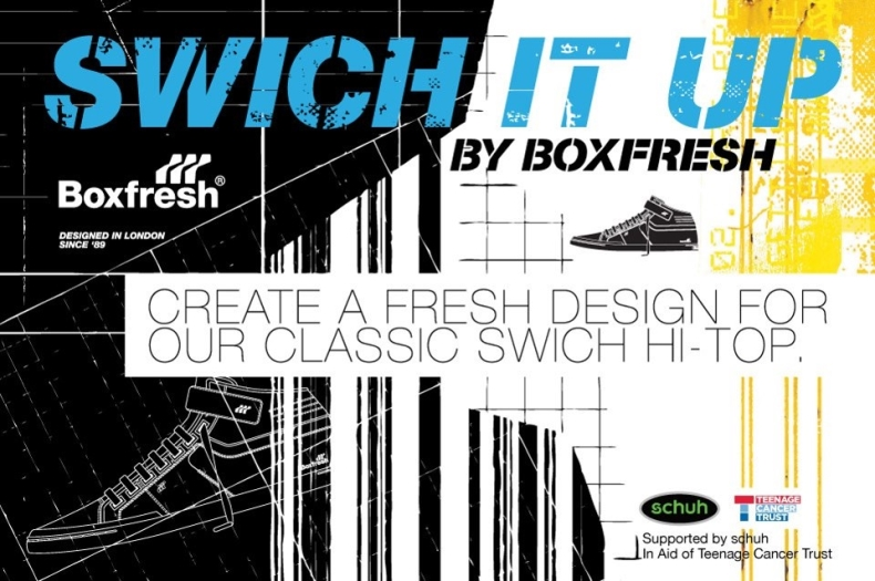 shoe competition with Boxfresh create a design poster
