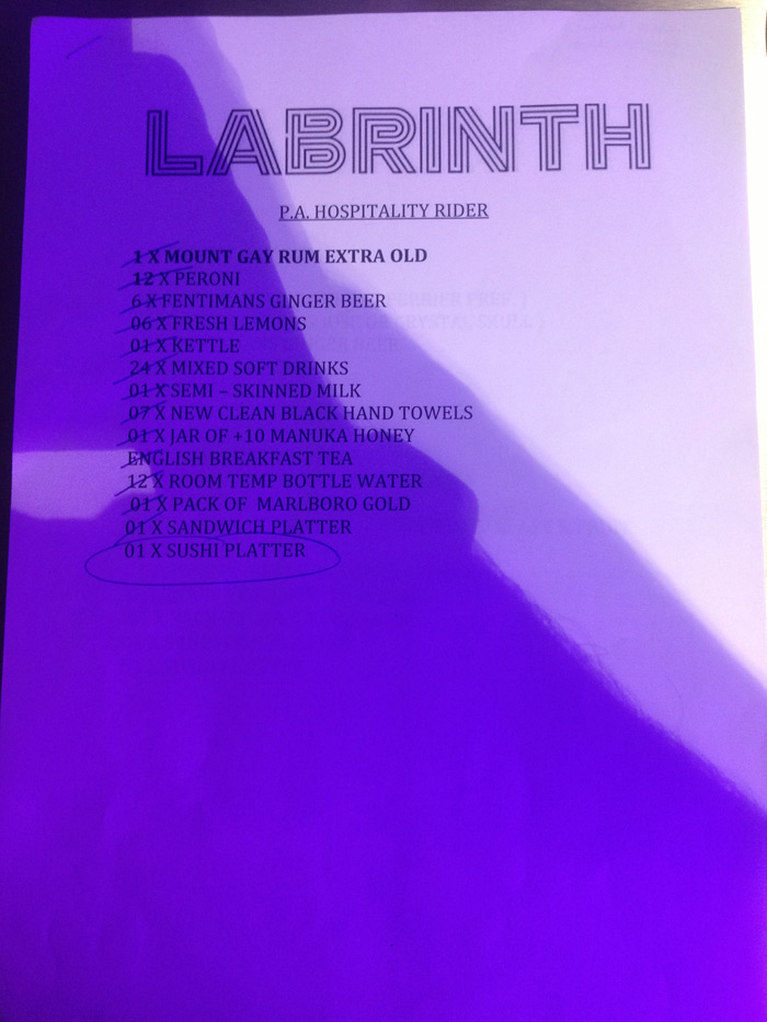 Labrinth's Rider from the schuh Marble Arch gig