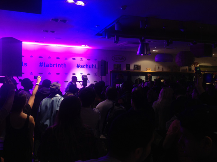 Labrinth performs at schuh Marble Arch