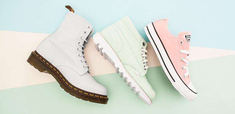 womens dr martens kickers and converse pastel shoes at schuh