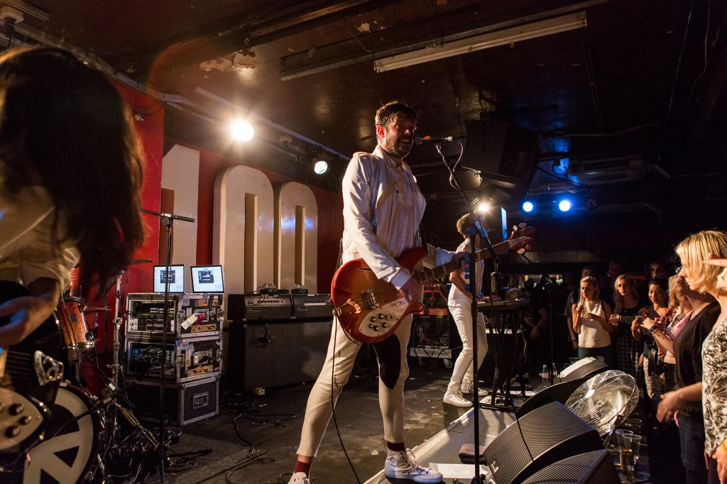 Klaxons performing at the Converse gig