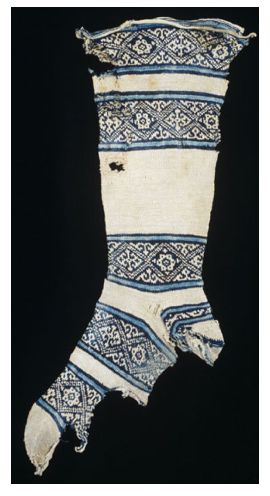 Egyptian Sock 12th Century (wikipedia)