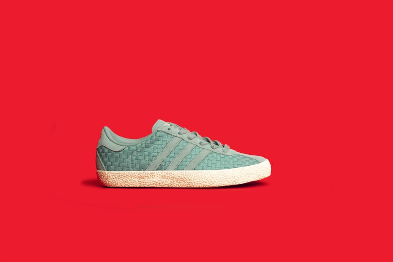 womens adidas turquoise gazelle 70s woven trainers