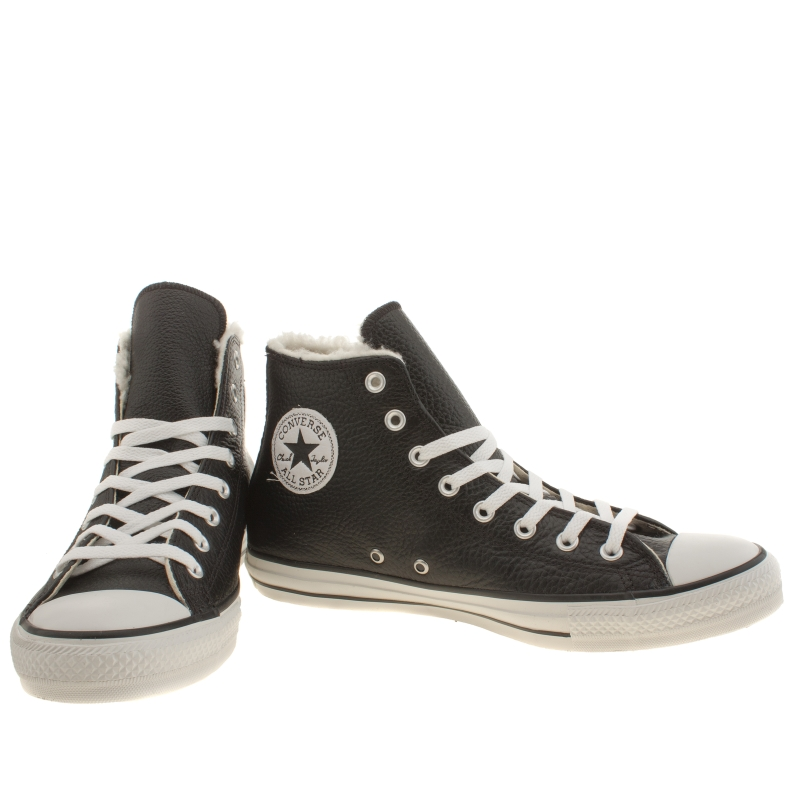 converse-all-star-shearling-hi-trainers-for-men-in-black-and-white