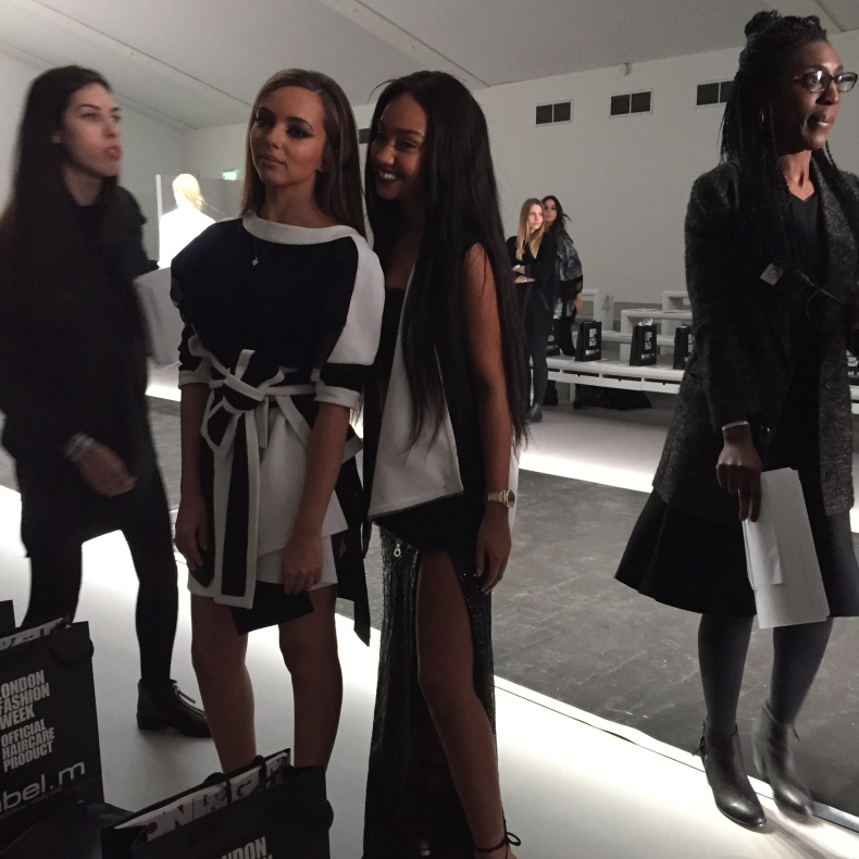 Little Mix Jean Pierre Braganza at London Fashion Week 2015