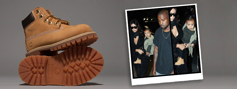 Kanye West and Kim Kardashian's daughter wearing kids Timberland 6 Inch Premium Toddlers boots