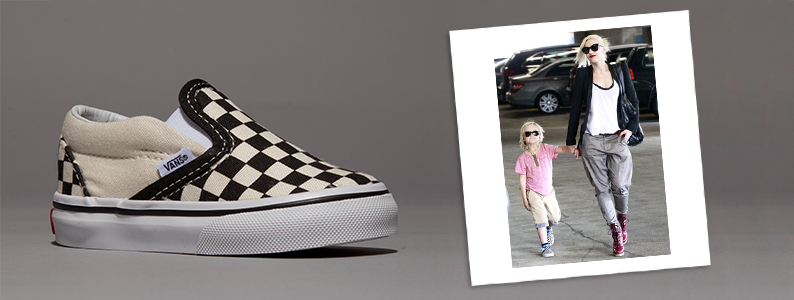 Gwen Stefani's son wearing kids Vans Authentic slip-on toddlers trainers