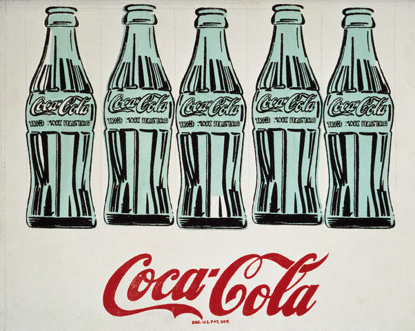 andy-warhol-coca-cola-5-bottles-1962-print-in-black-green-and-red-with branding