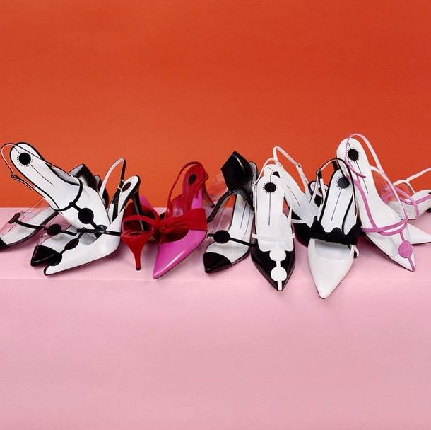 ashley-williams-red-or-dead-collaboration-white-and-black-and-pink-leather-womens-heels