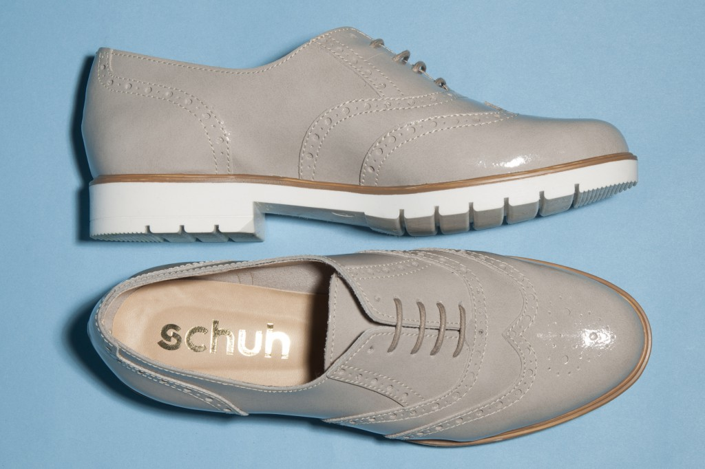 women's light grey schuh House Party brogues