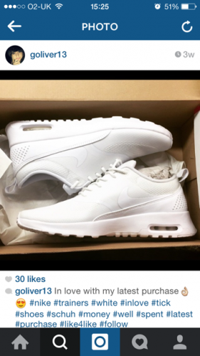 womens white leather nike air max thea