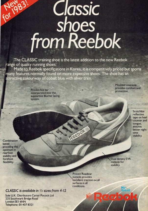 reebok shoes history