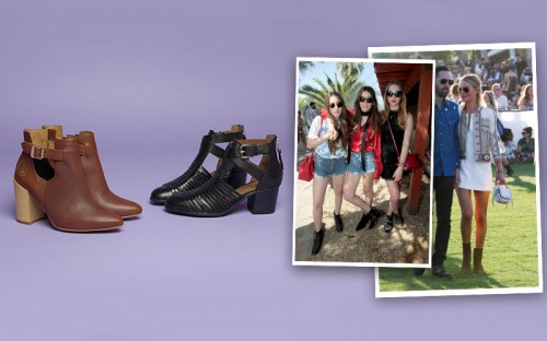 Kate Bosworth and Haim wearing ankle boots at Coachella