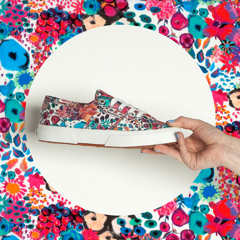 superga liberty art fabrics plimsolls