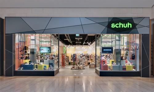 schuh Bluewater store front inspired by contemporary artists