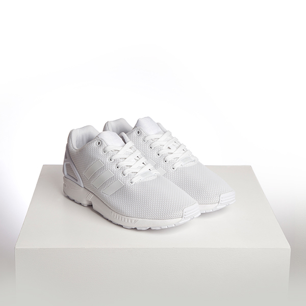 adidas ZX Flux All White Triple White Trainers schuh