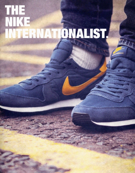 Nike Internationalist Blue with Yellow Tick Poster