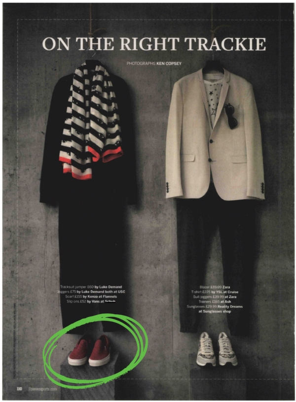 Mens Vans Classic Slip On Overwash in red fabric featured in mens outfit choices for Forever Sports Magazine