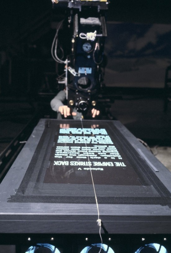 image-of-how-they-filmed-the-Star-Wars-opening-credits-in-action