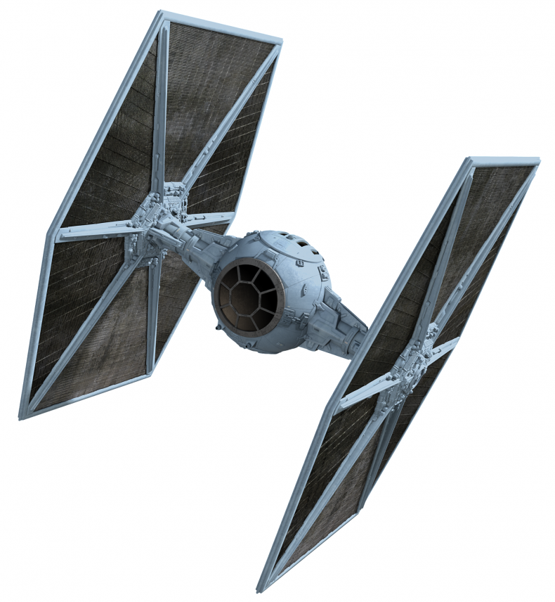TIE fighter from Star Wars movies in grey and black
