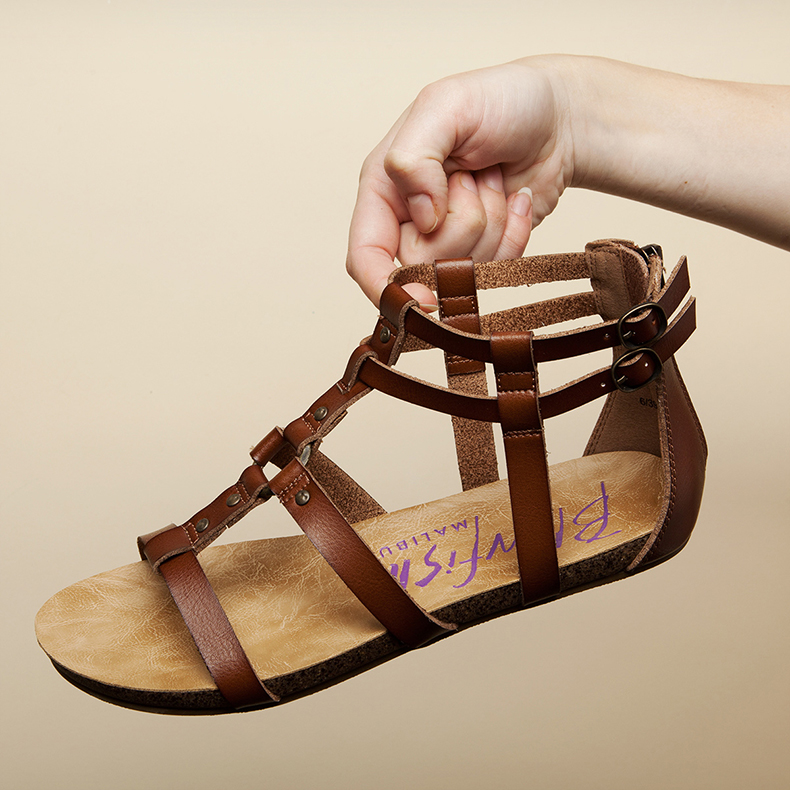 womens blowfish gotten gladiator sandals in tan