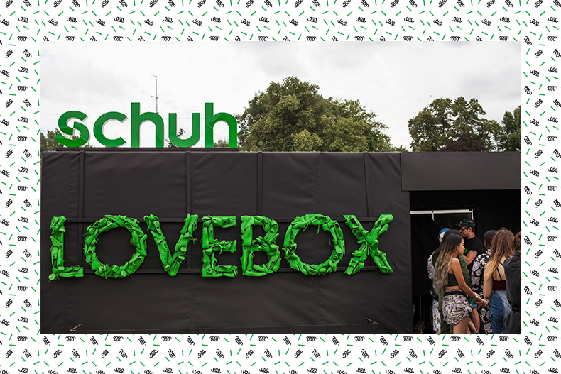 schuh photobooth at Lovebox