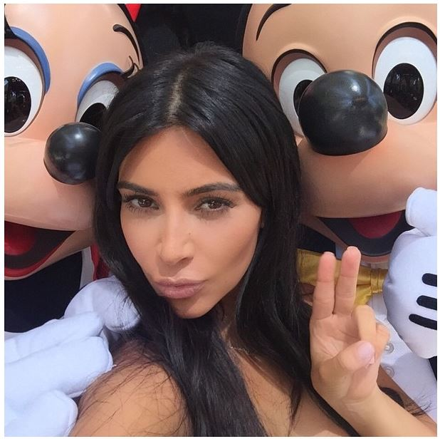 Kim Kardashian West at Disneyland