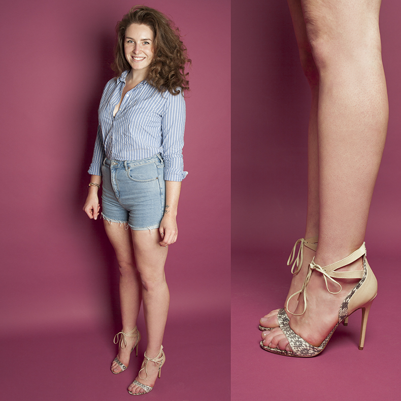 megan-wearing-womens-drama-queen-high-heels-from-schuh-in-natural-leather-and-snakeskin-print