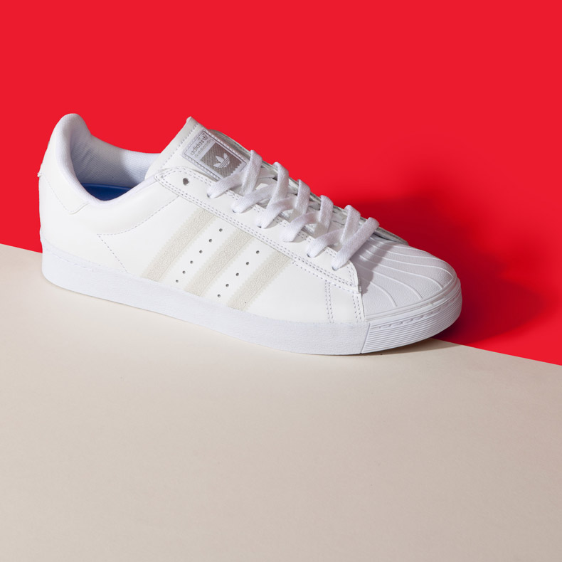 mens white adidas superstar vulc trainers