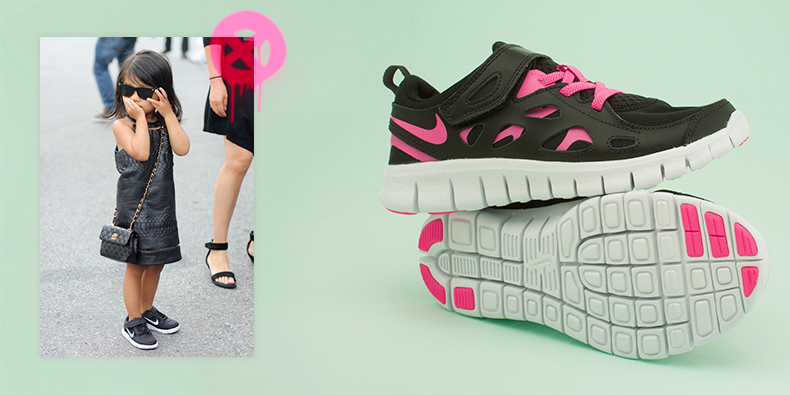 new styles b11b2 8e03a ... wholesale girls kids nike free run 2 trainers in black with pink  accents and white rubber