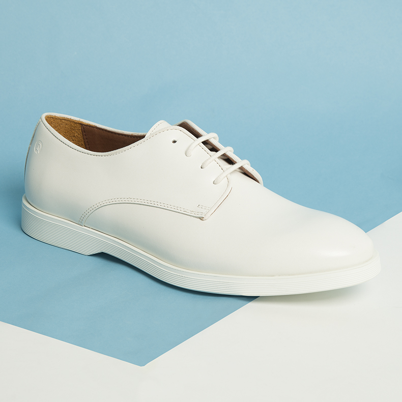 mens red or dead mr mcfadden white leather shoes