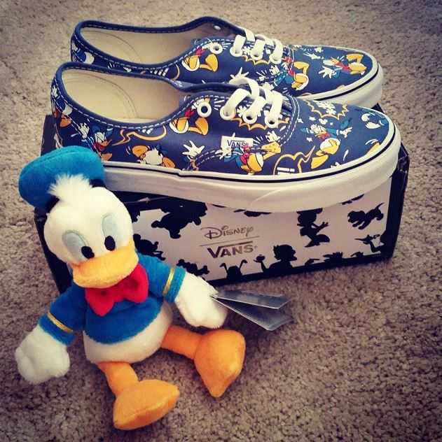 blue and yellow vans disney donald duck authentics