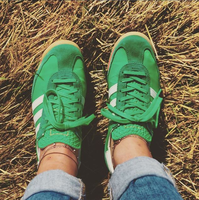 green adidas sl 72 trainers