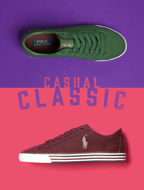 mens polo ralph lauren harvey shoes in burgundy and green with white rubber sole on pink and purple background