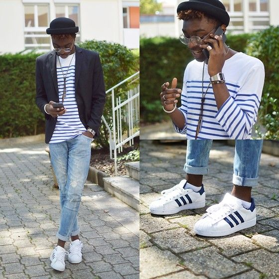 Men Adidas Superstar Outfit