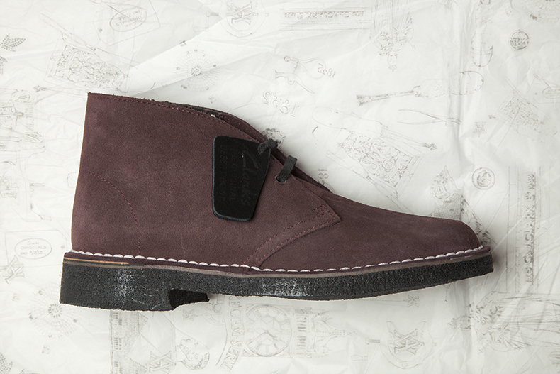 mens and womens unisex dark brown suede rockn v&a desert boots from clarks originals collaboration