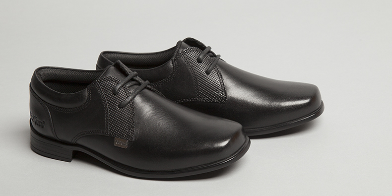 black leather kickers ferock lace boys shoes