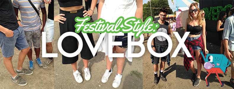 schuh snapped featival style at Lovebox festival london 2015