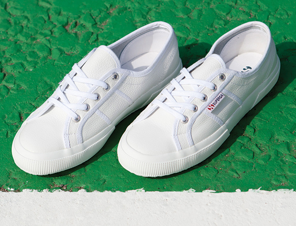 white superga 2750 leather trainers at schuh