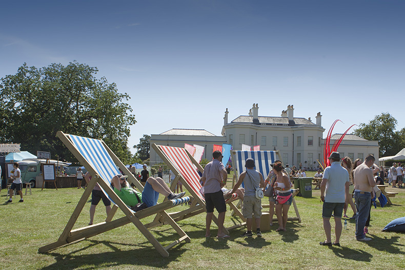 v festival 2015 deck chairs VIP area