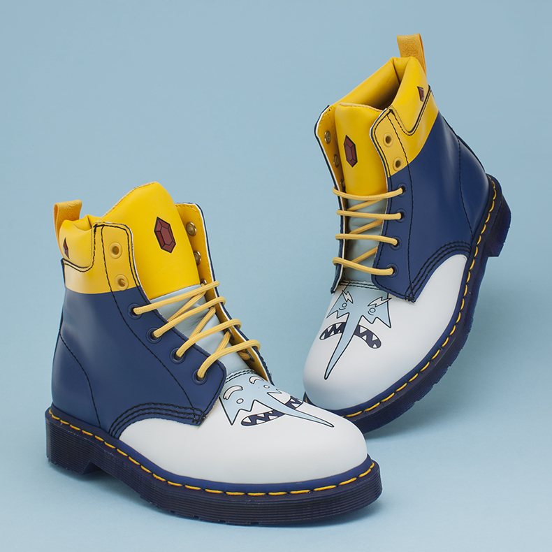 dr martens white and blue 939 adventure time ice king boots at schuh