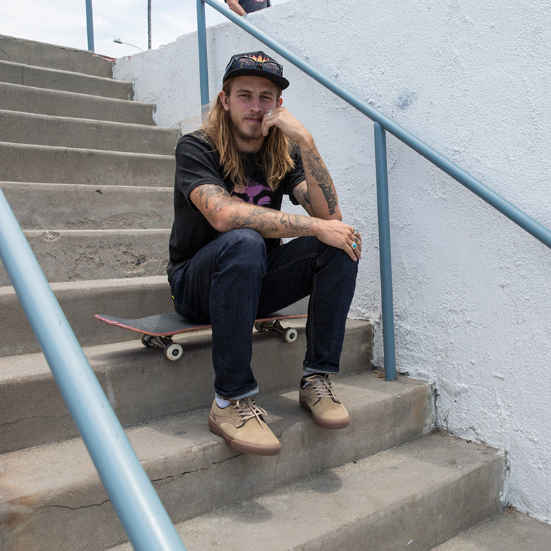 riley hawk tony hawk's son wearing tan skate shoes