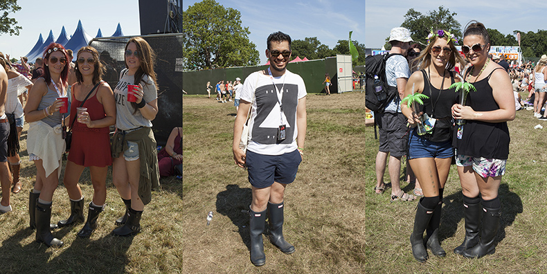 street style v festival with hunter wellies