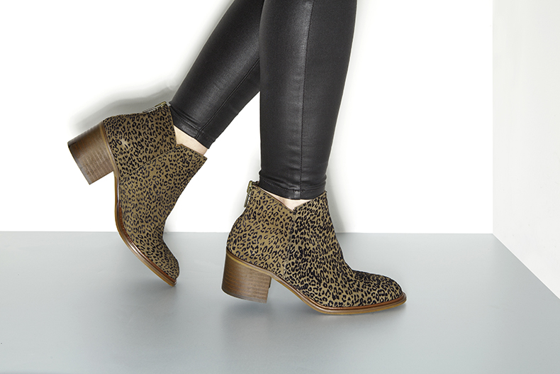 schuh Pioneer leopard print ankle boots