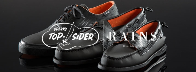 sperry boat shoes and rains collaboration
