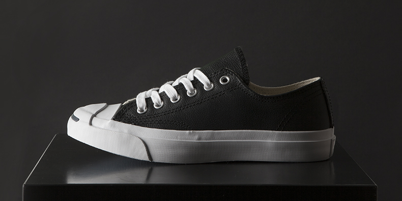 e72fe100f6f3 converse jack purcell trainers for men and women in black leather with  white toe cap
