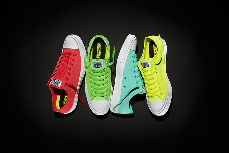 converse all star chuck II ox neon trainers