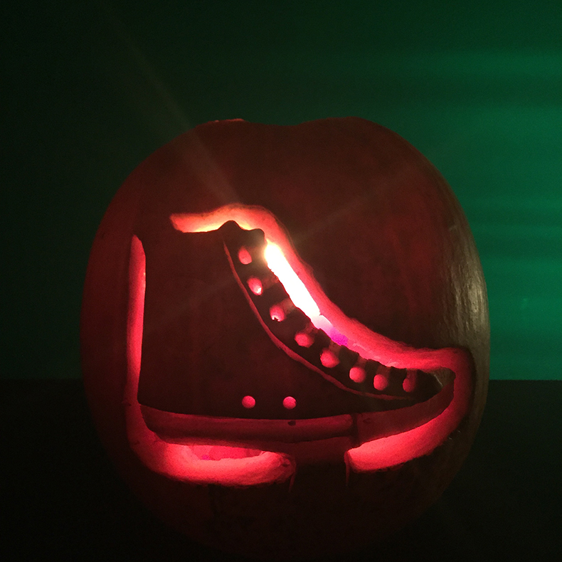schuh HQ pumpkin carving competition andrew's converse trainers