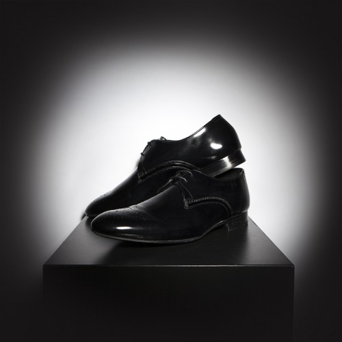 H by Hudson Black Formal Shiny Leather Shoes